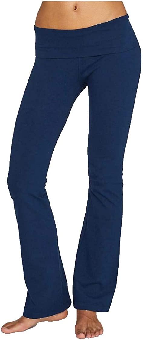 Hard Tail Roll Down Bootleg Flare Pants Loungewear