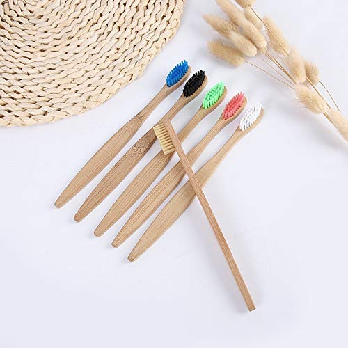 1 PCS Bamboo Handle Tooth Brush Whitening Colorful Environment-friendly Bamboo Toothbrush Oral Care