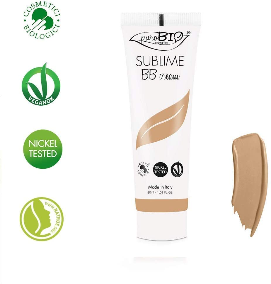 PuroBIO Certified Organic Long-Lasting Anti-Aging BB Cream Color 03 Medium/Dark.All Skin Types. Contains Sage, Olive Oil, Apricot Oil, Shea Butter. ORGANIC. VEGAN. NICKEL TESTED. MADE IN ITALY 1 fl.oz