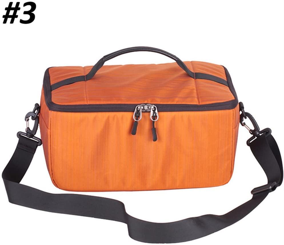 Binglinghua DSLR SLR Partition Flexible Folding Padded Camera Lens Insert Bag Dividers Case (orange)