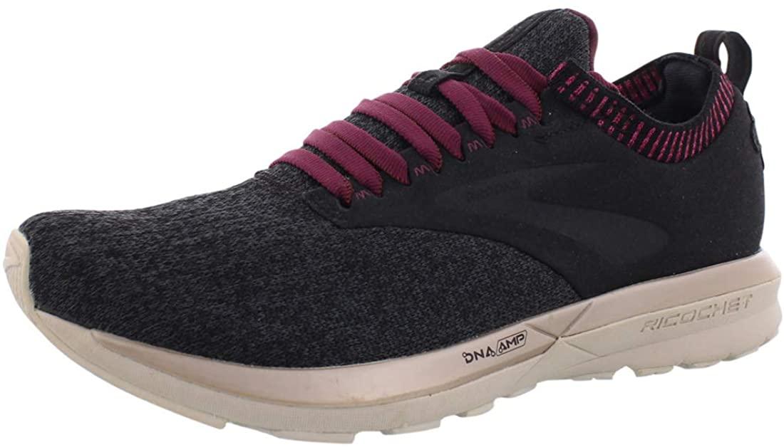 Brooks Women's Ricochet Black/Grey/Pink 8.5 B US