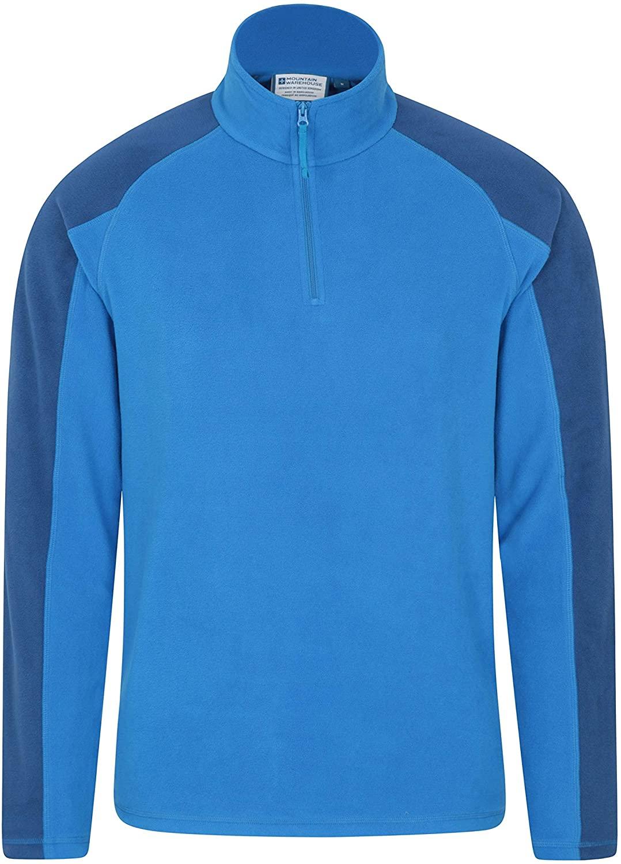 Mountain Warehouse Mens Fleece - Microfleece Sweater-Best for Camping