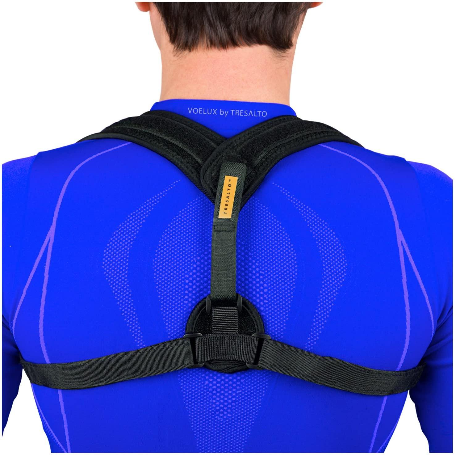 Tresalto Posture Corrector Clavicle Support Brace for Men and Women Upper Back
