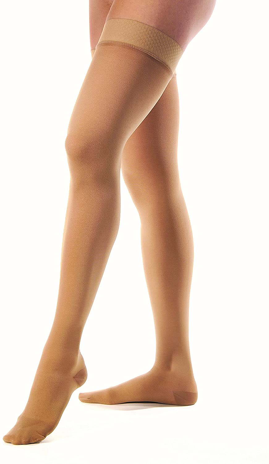 JOBST Relief Compression Stockings, 30-40 mmHg, Thigh High, Closed Toe, Beige, Medium