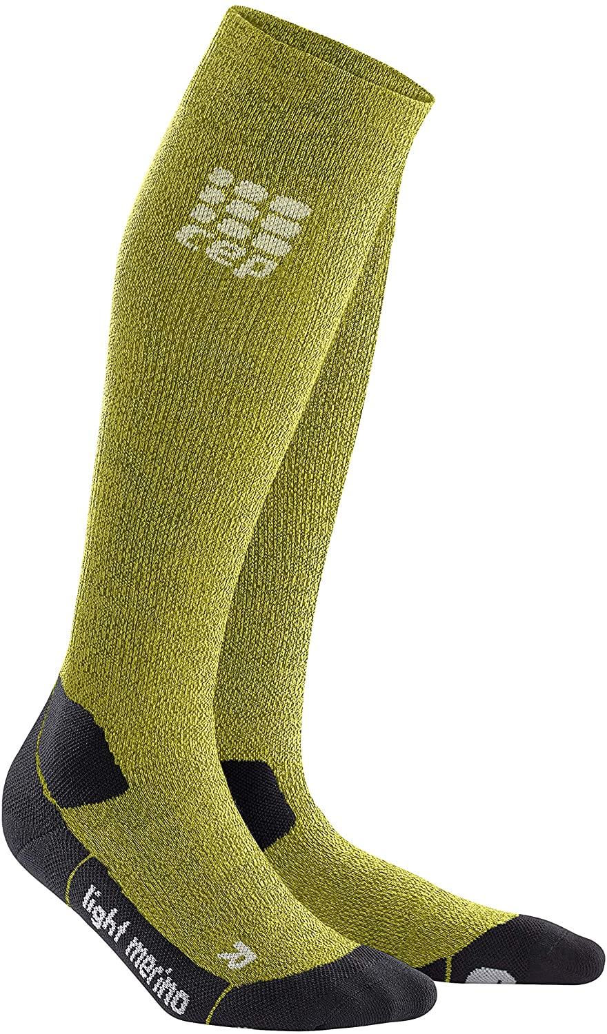 CEP Women's Long Compression Light Merino Wool Socks for Hiking
