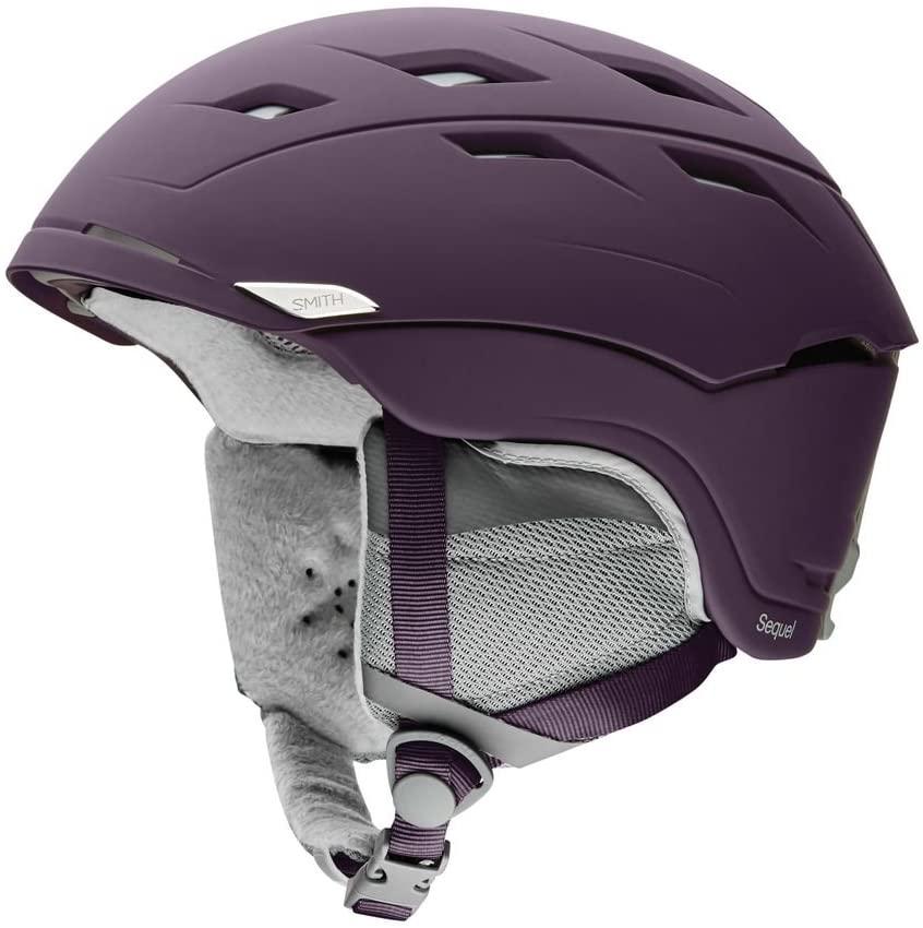Smith Optics Sequel Adult Ski Snowmobile Helmet - Matte Black Cherry/Large