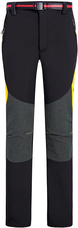 CIKRILAN Women's Outdoor Windproof Soft Shell Fleece Lined Pants Ladies Trousers