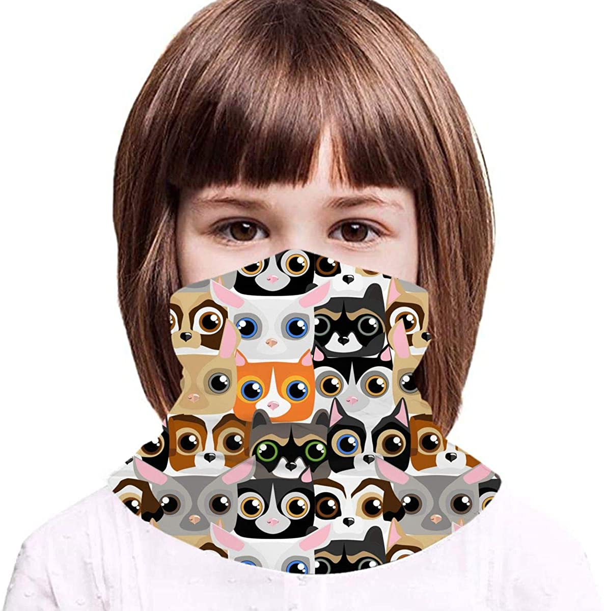 Little Cute and Funny Pets Neck Gaiter Balaclava Bandana Headwear Cooling Scarf Variety Face Towel