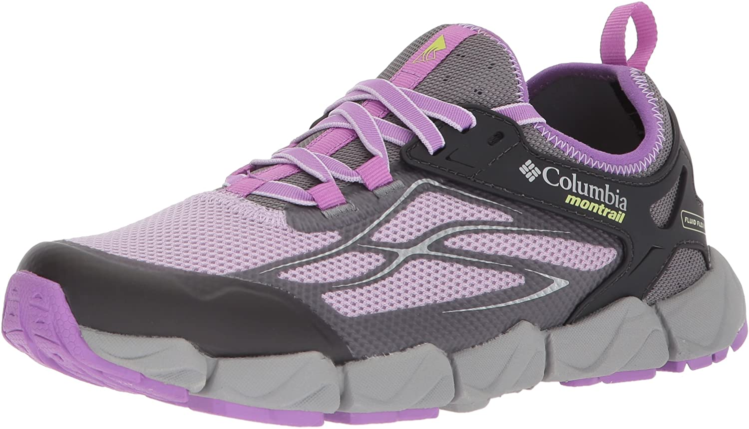 Columbia Women's Fluidflex X.S.R. Trail Running Shoe, Phantom Purple, Nappa Green, 5.5 B US