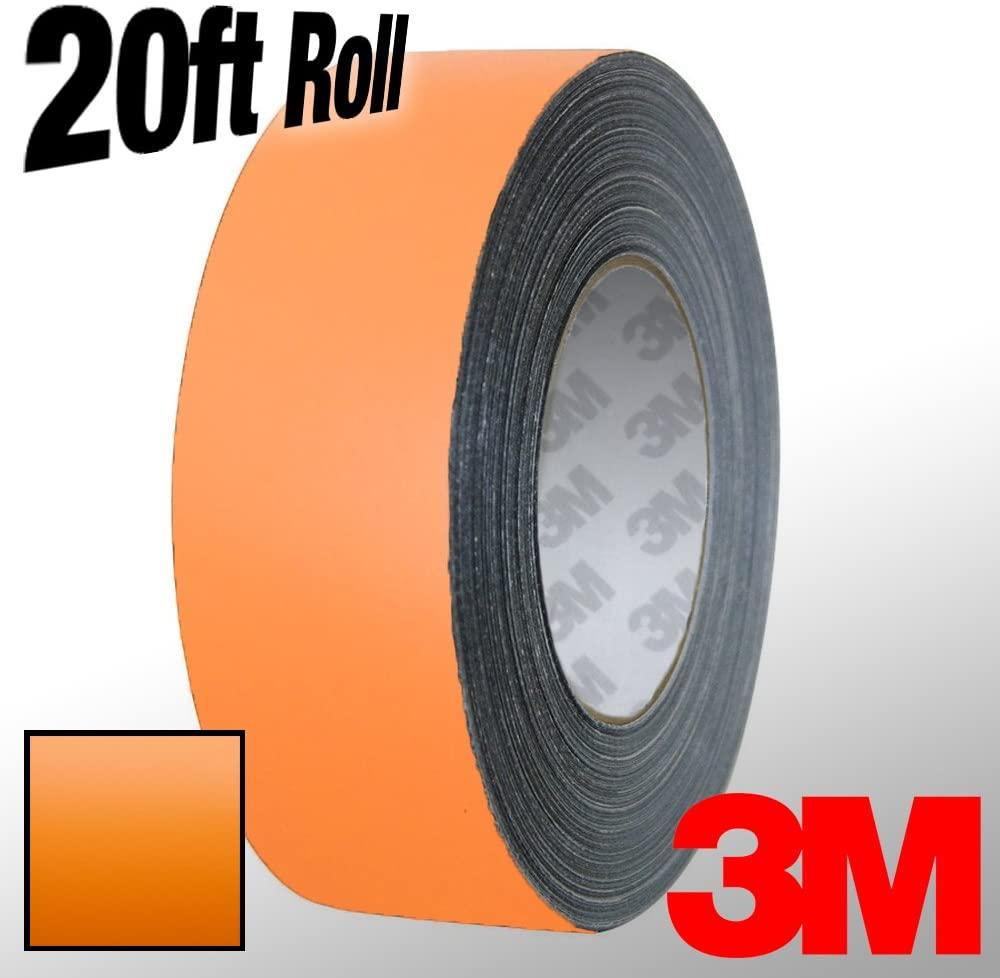 VViViD 3M 1080 Orange Matte Vinyl Detailing Wrap Pinstriping Tape 20ft Roll (1 Inch x 20ft)