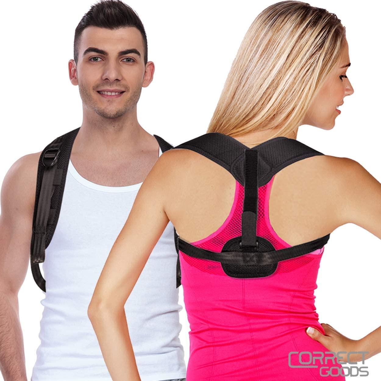 Posture Corrector-Back Brace for Men and Women–Back Posture Support Brace and Neck-Shoulder Back Pain Relief – Fully Adjustable Upper Back Clavicle Comfy Straightener Support Brace for Slouching & Hunching