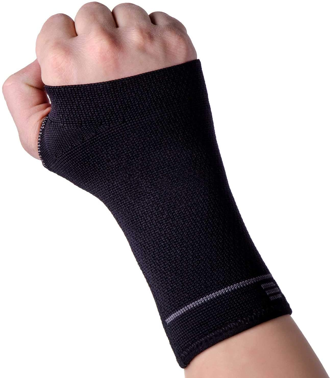 Compression Wrist Support Sleeve - Relieve Carpel Tunnel, Wrist Pain - Best Wrist Support - Improve Circulation and Support Wrist