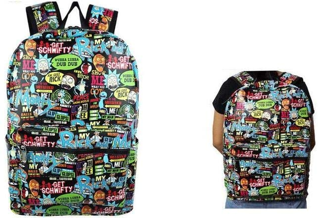 R and M Get Schwifty Multi Characters Full Size Backpack