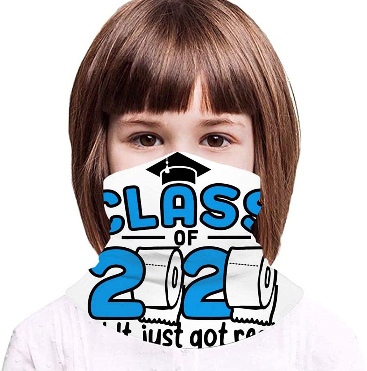 Teen Face Nose Mouth Mask Bandanas Neck Gaiter Headwear Magic Scarf Headband Printed Seniors Class of 2020 Graduation