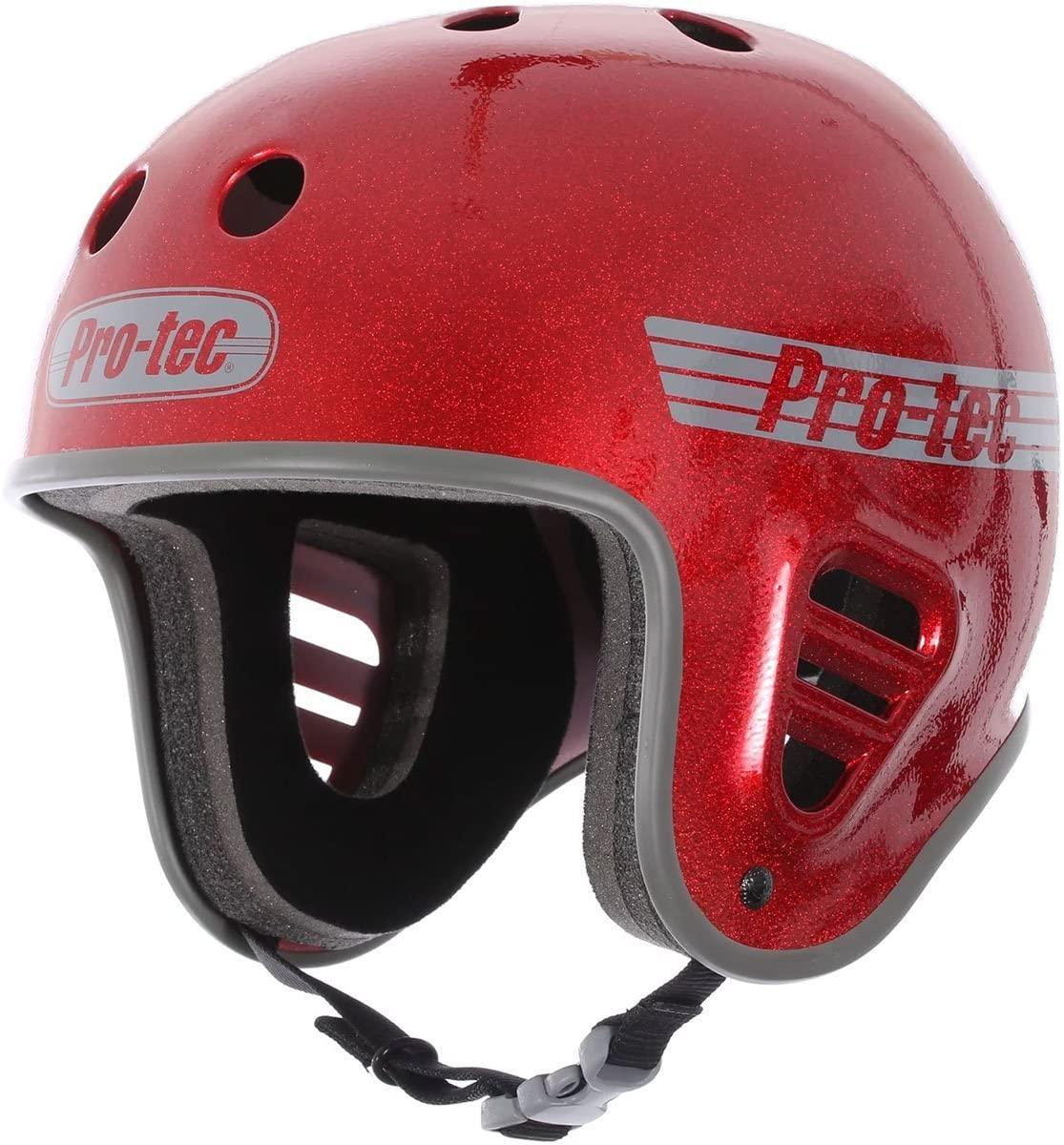 Pro Tec Full Cut Skate Helmet - Red Metal Flake - SM