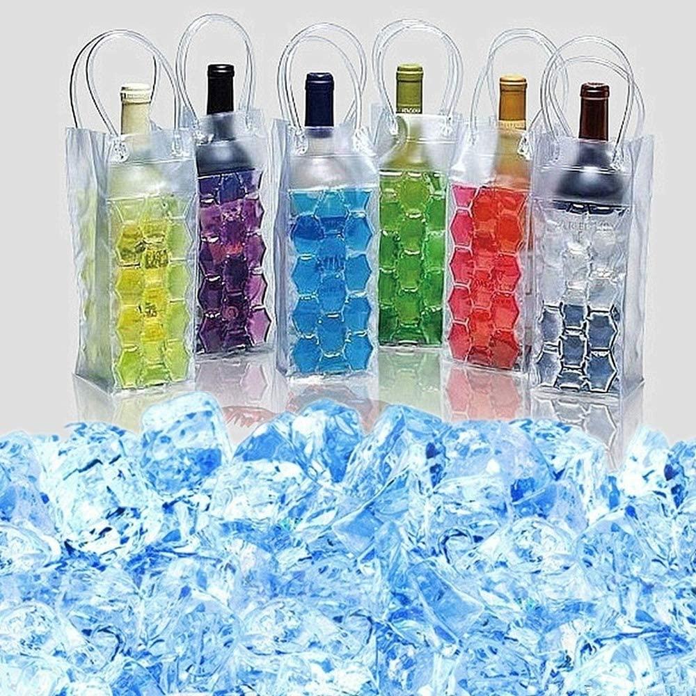 MOKACOCA Wine Beer Bottle Cooler Chiller Gel Bag Ice Chilling Cooling Freezable Carrier Party Gift (Blue)