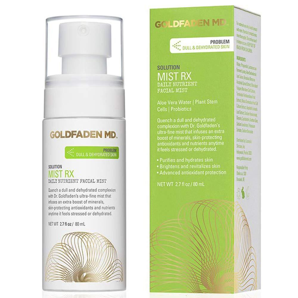 GOLDFADEN MD Mist RX | Daily Nutrient Face Mist | w/Aloe Vera Water, Plant Stem Cells & Antioxidants | Delivers Hydration & Revitalizes | Nourishing Makeup Setting Spray | 2.0 fl oz / 80 mL