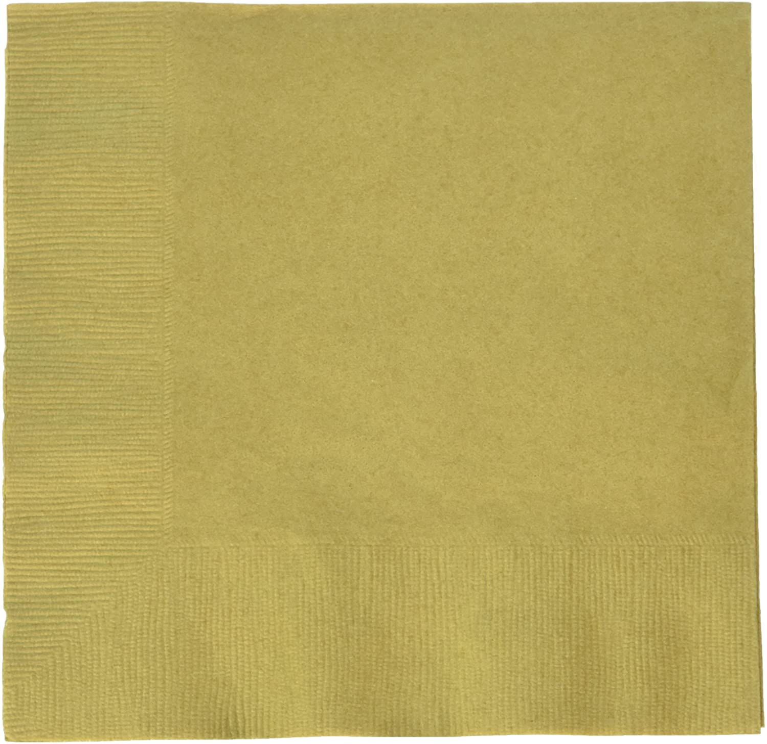 Gold 2-Ply Luncheon Napkins | Pack of 50 | Party Supply