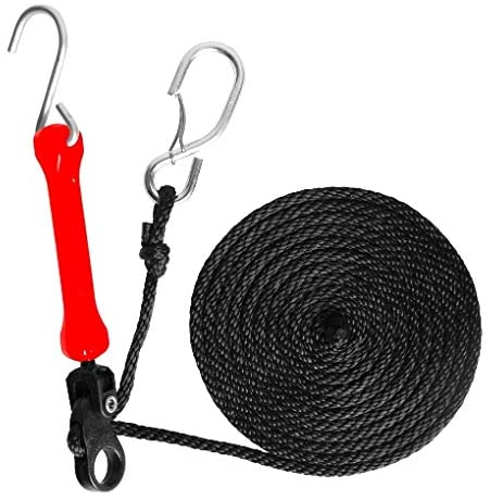 THE PERFECT BUNGEE PTDR2PK 12', Tie Down 2 Pack, RED, Galvanized Gated End & Galvanized Triangulated Hook End
