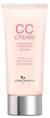 PURE BEAUTY Pure Beauty CC Cream SPF50+ PA+++ (Natural) 40ml- Ultra Natural Coverage - Corrects Uneven Skin Tone - Gloss Finishing - SPF Protection