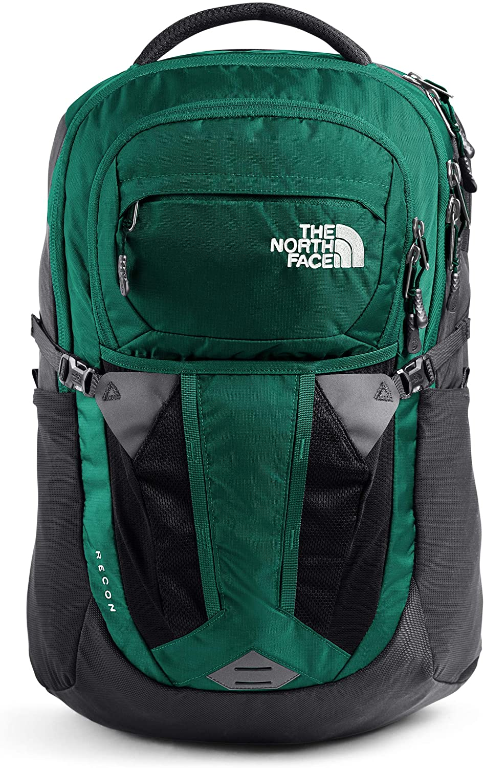 The North Face Women's Recon Backpack, Evergreen/Asphalt Grey, One Size
