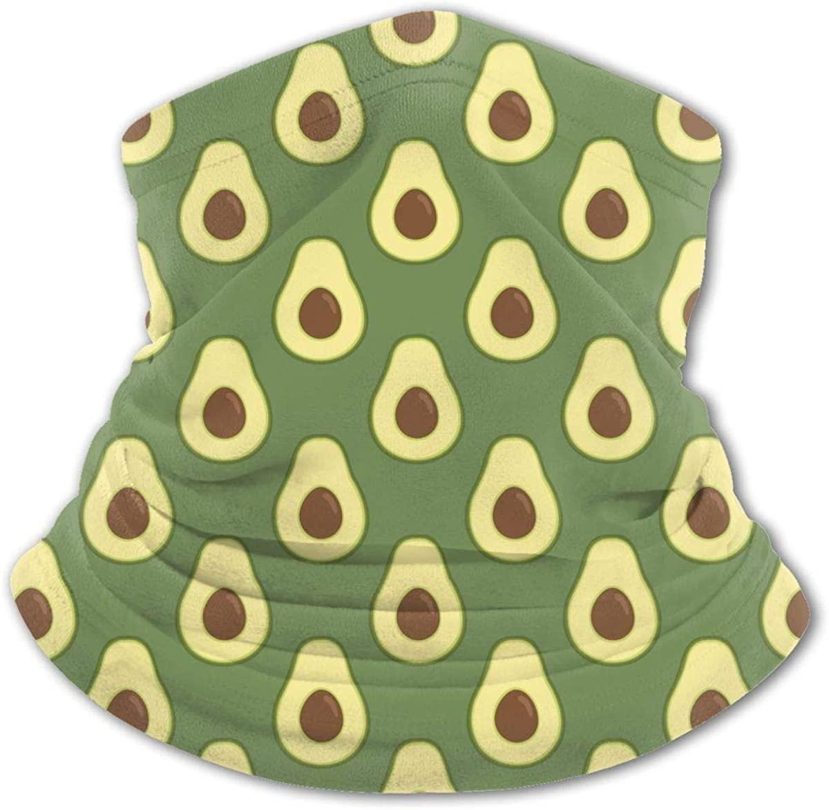 Avocado Bright Green Neck Gaiter Face Mask Bandana Dust Wind Sun UV Balaclava for Teen Boy Girl Outdoors