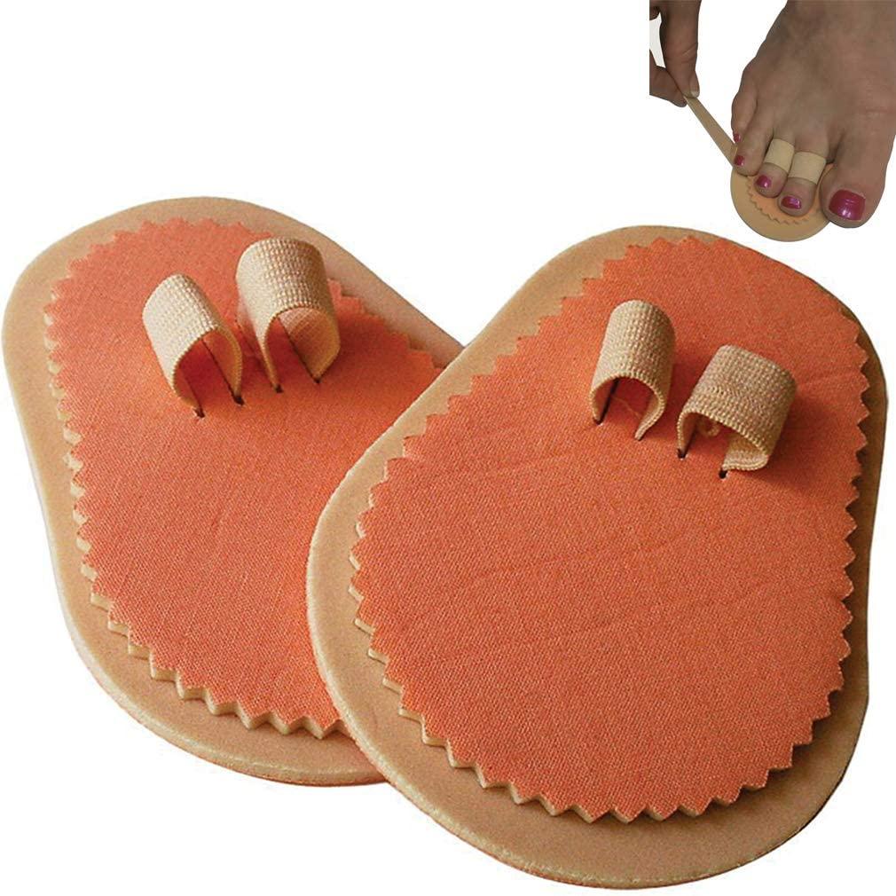 Double Toe Straightener-Overlapping/Crooked/Hammertoe-Soft Foam-Right/Left-Set/2