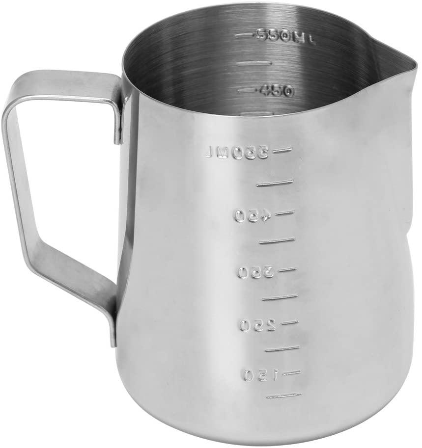 minansostey Stainless Steel Coffee Frothing Milk Latte Jug Fancy Foam Cup Pitcher 350/550ml