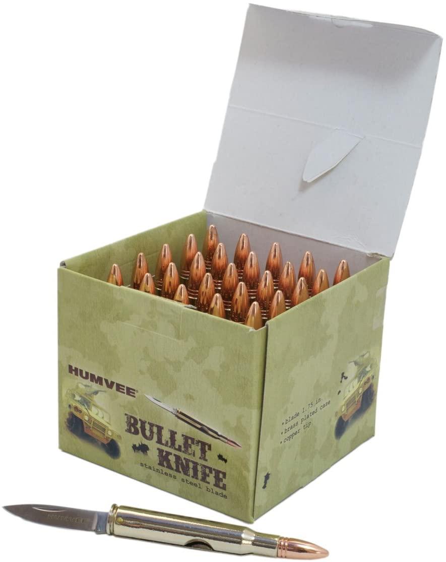 CampCo Humvee HMV-DB-BLT 1.5-Inch Blade Folding Bullet Knife, 25-Piece Display