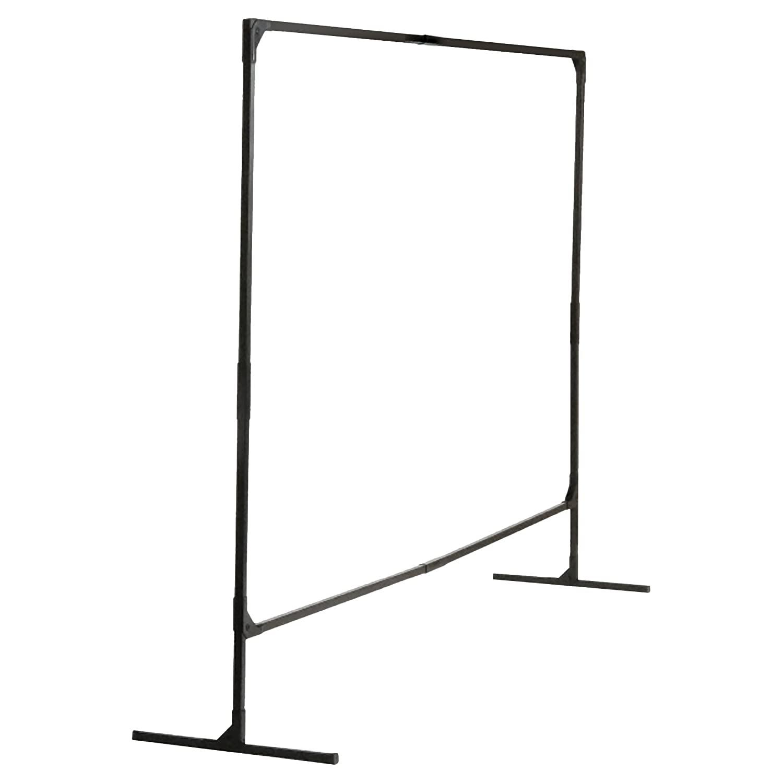 Wilson Industries Stur-D-Screen Frame (36338), 6 x 8 feet, Single Panel, T Legs, Black, for Welding Curtains, 1 / Order
