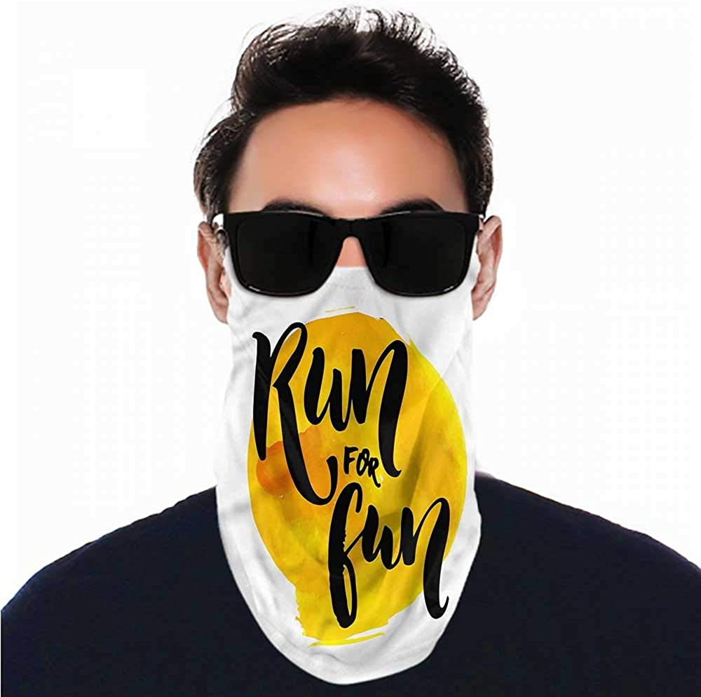 VIVIOTendance Headwrap Inspirational,Run for Run Quote Sunscreen Bandana