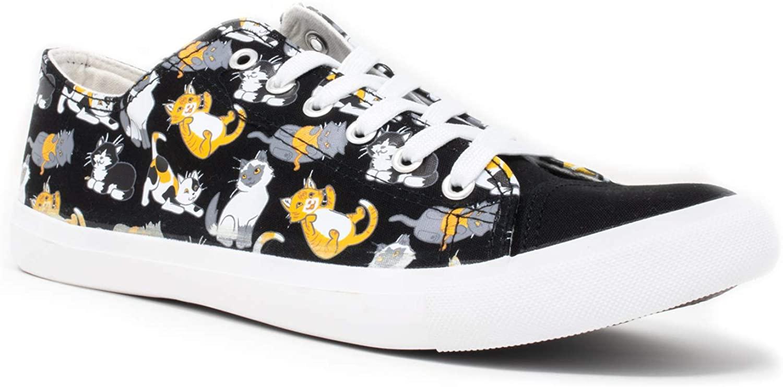 Kitten Sneakers   Cute, Fun Cat Mom Dad Lady Gym Tennis Shoe - Unisex Women Men
