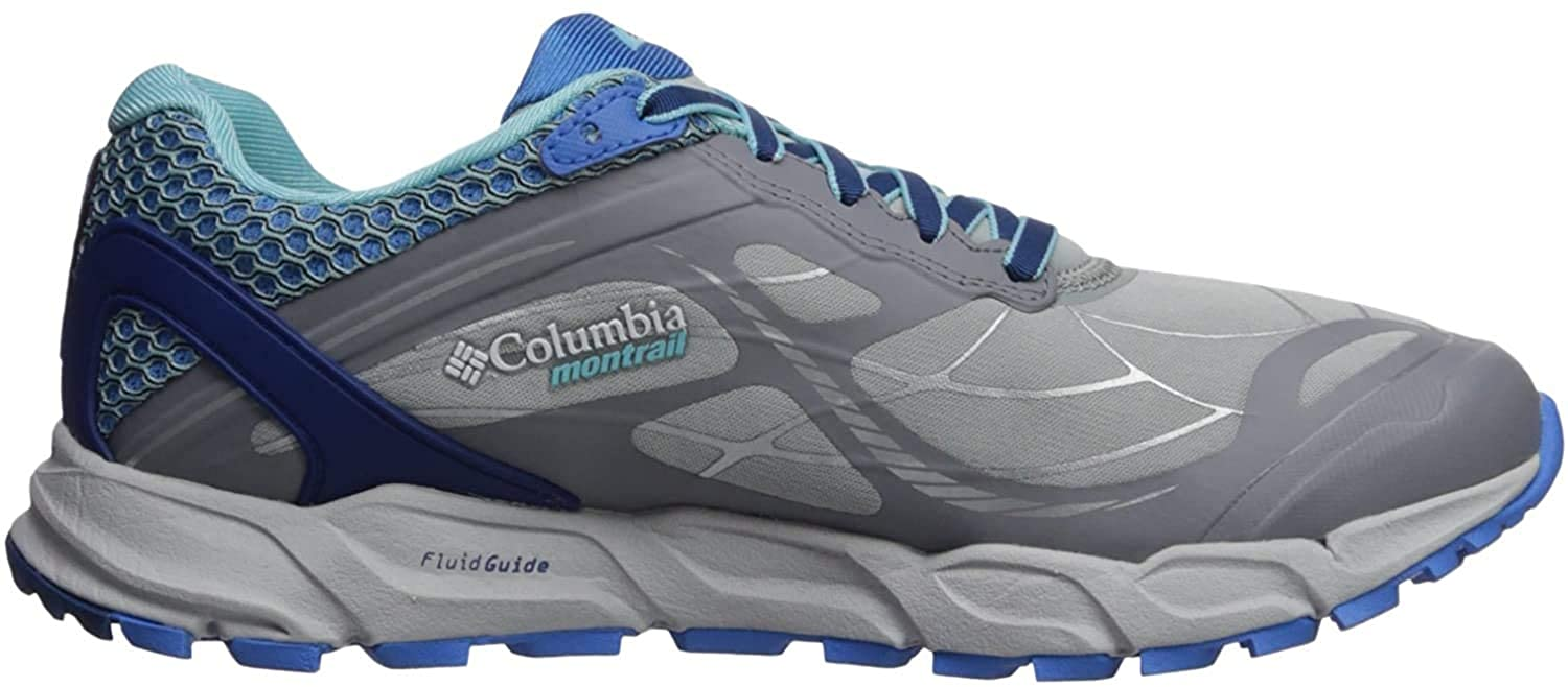 Columbia Womens CALDORADO III Trail Running Shoe, Earl Grey, Coastal Blue, 12 B US