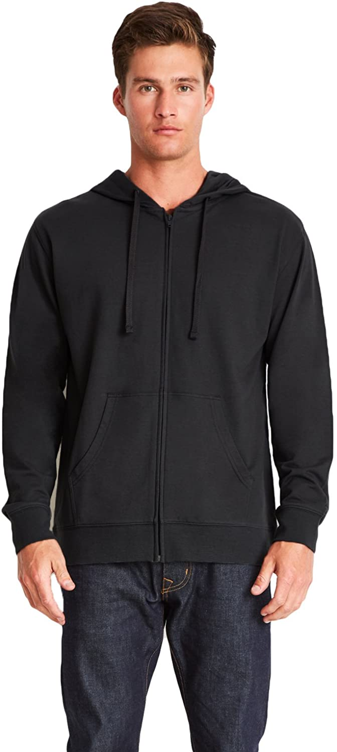 Next Level Adult French Terry Zip Hoody (9601) -BLACK/BLAC -XL