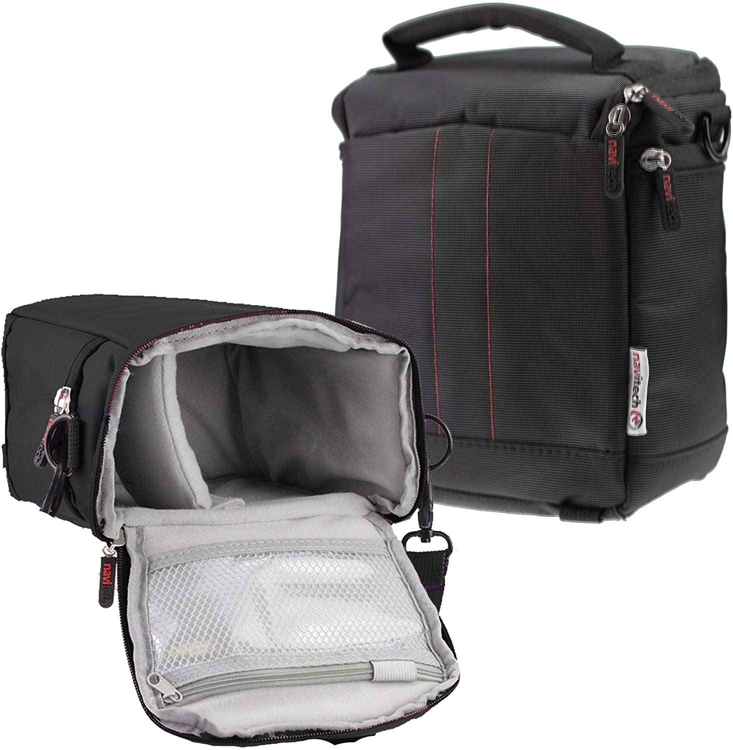 Navitech Black Protective Portable Handheld Binocular Case and Travel Bag Compatible with The Nikon Monarch 10x42