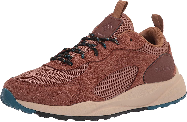 Columbia Mens Pivot WP Sneaker, Elk/Lagoon, 10.5