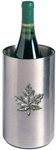 1pc, Pewter Maple Leaf Wine Chiller