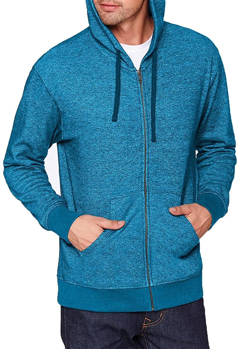 Next Level Mens Denim Fleece Full-Zip Hoody (9600) -TURQUOISE -M