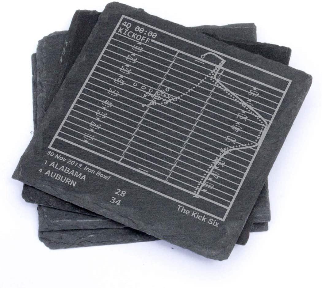 Greatest Auburn Football Plays - Slate Coasters (Set of 4)
