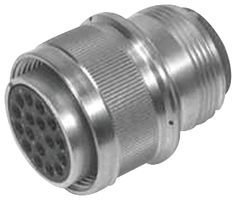 Circular Connector, MIL-DTL-5015 Series, Straight Plug, 3 Contacts, Crimp Socket, Threaded, 10SL-3