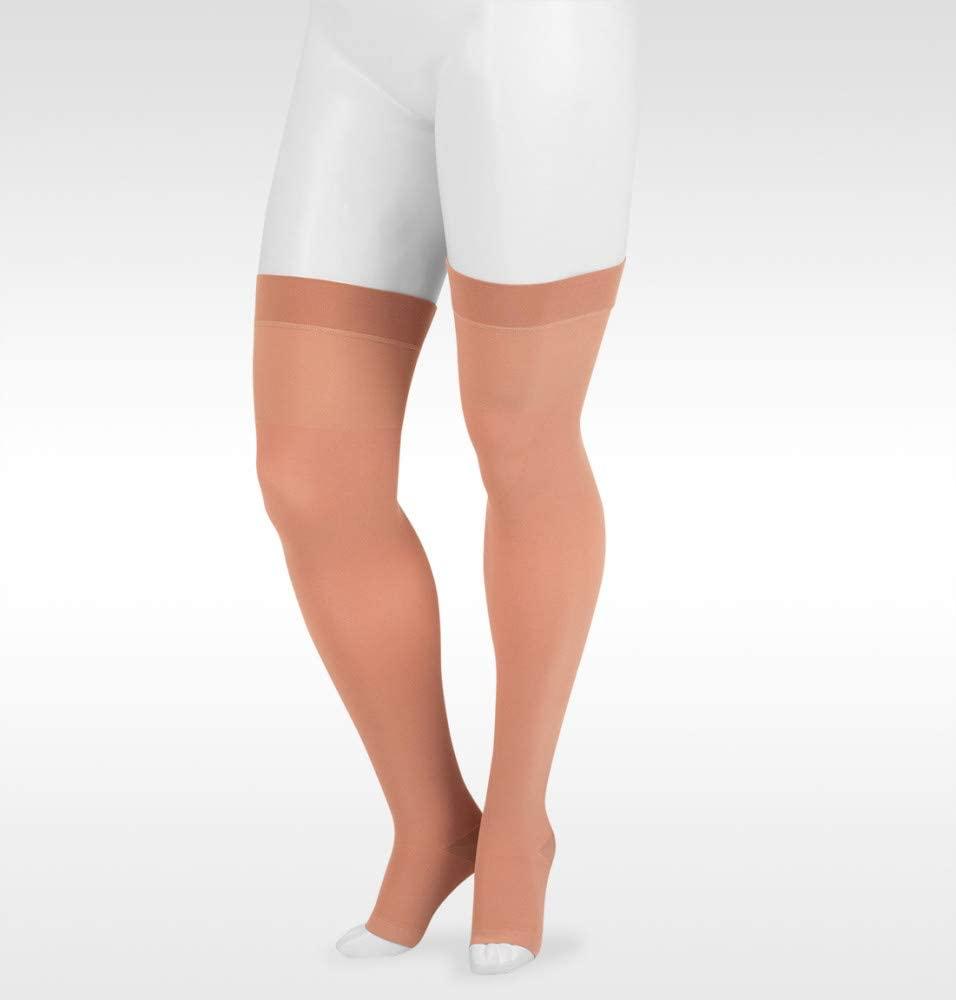 Juzo Dynamic Varin 3513 40-50mmhg Thigh-High Open Toe Stocking w/Silicone Band