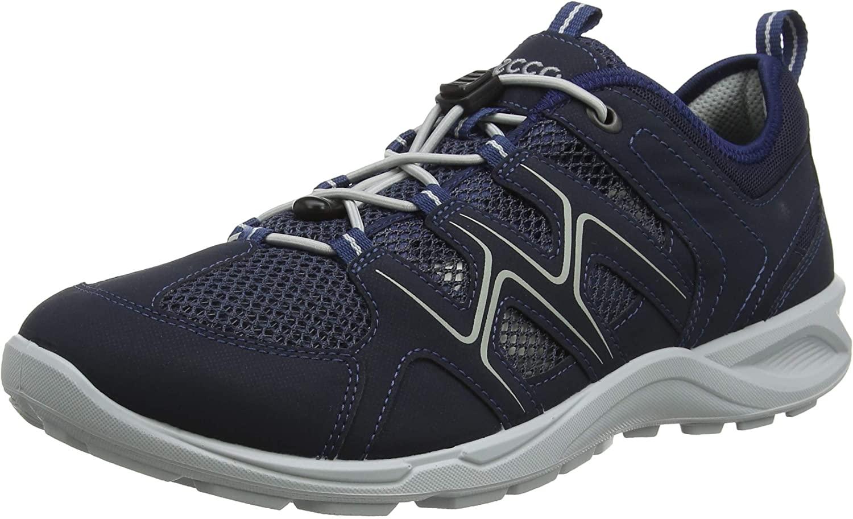 ECCO Mens Low Rise Hiking Shoes, Marine Concrete 51406, US:7.5