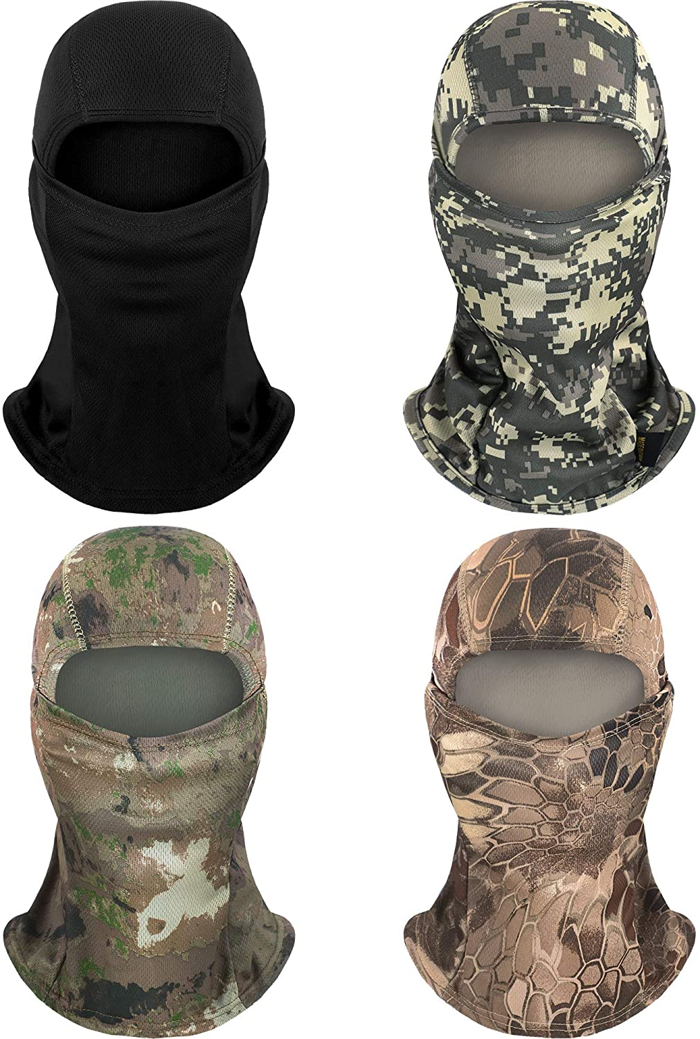 4 Pieces Summer Balaclava Face Mask UV Protection Mask Breathable Full Face Cover for Sun Protection