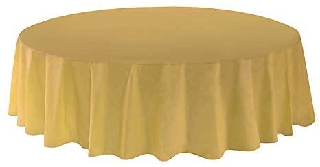 Allgala 6-Pack Premium Plastic Table Cover Medium Weight Disposable Tablecloth-6PK Round 84