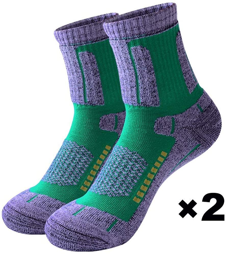 Forestgrow Hiking Socks Women Micro Crew Outdoor Sports Cushion Walking Socks