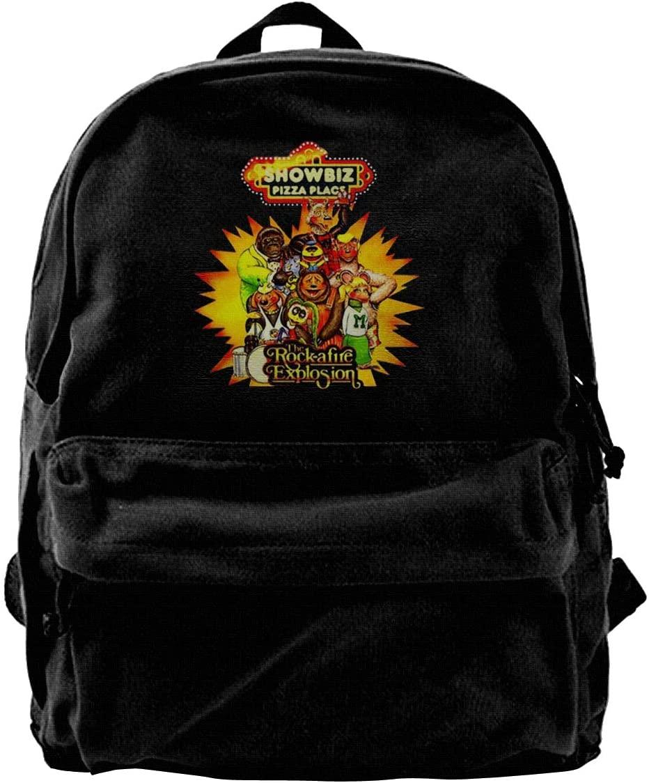 Showbiz Pizza Place Casual Backpacks Print Canvas Daypacks Travel College Rucksack Backpack