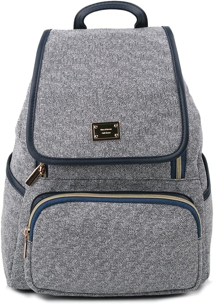 Copi Women's Modern Deluxe Design Fashion Small Backpacks Navy