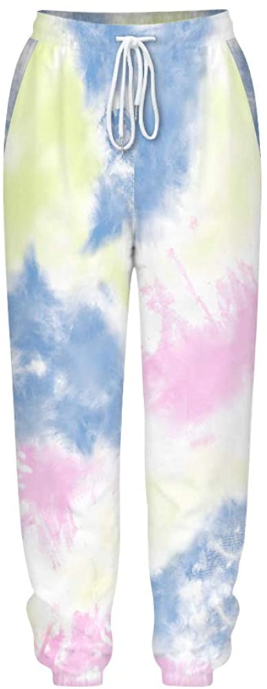 Beyond_AV Women Tie Dye Sweatpants Funny Joggers Pants Sports Casual Comfy Trousers