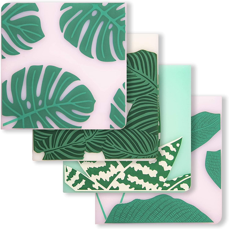 modern-twist Conservatory Print Set of 4 Coasters 100% plastic free silicone, tabletop, dining, decoration, modern design, Set