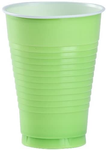 Party Dimensions 80532 20 Count Plastic Cup, 12-Ounce, Lime Green